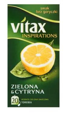 VITAX Inspirations Herbata zielona z cytryną