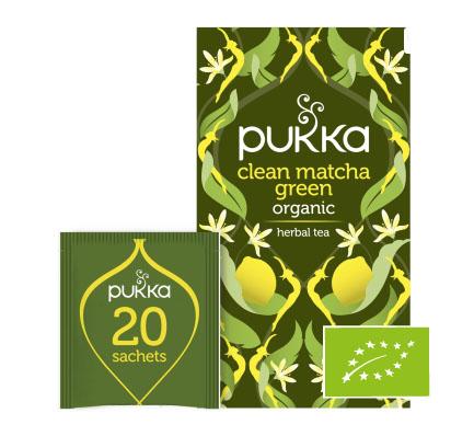 PUKKA Herbatka aromatyzowana Clean Matcha Green BIO
