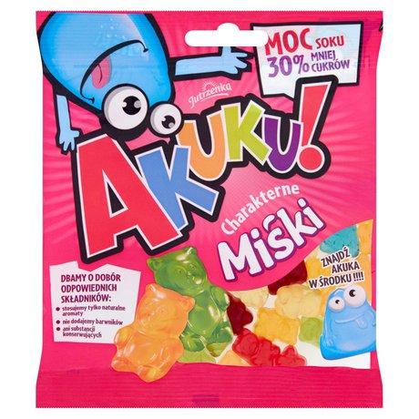 Akuku! - charakterne Miśki żelki z sokiem owocowym o obniżonej zawartości cukru
