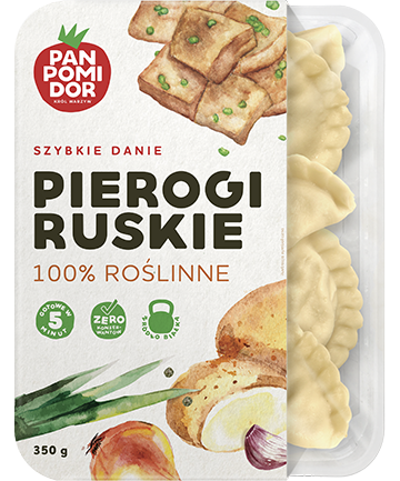 Pan Pomidor Pierogi Ruskie 100% Roślinne