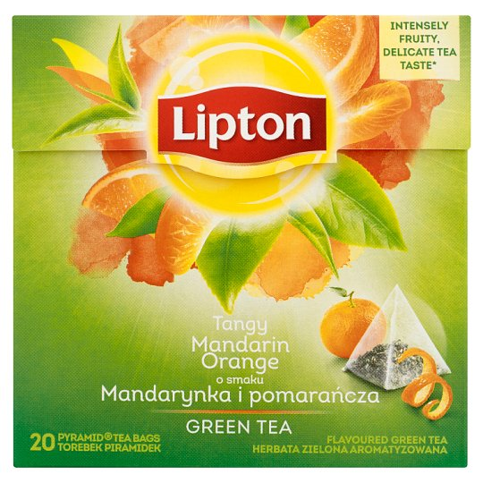 Lipton o smaku Mandarynka i pomarańcza Herbata zielona aromatyzowana