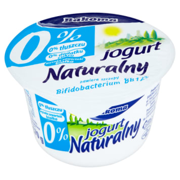 BAKOMA Jogurt Naturalny probiotyczny 0% tłuszczu