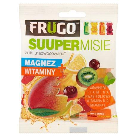 Frugo - Suuper Misie żelki o smaku mango, cytryny, kiwi i wiśni