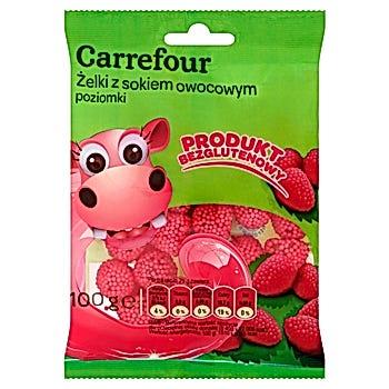 Carrefour Żelki z sokiem owocowym poziomki