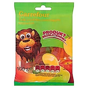 Carrefour Żelki z sokiem owocowym dżdżownice