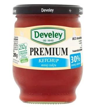 DEVELEY Premium Ketchup łagodny mniej cukru