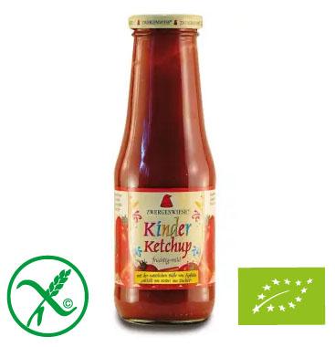 ZWERGENWIESE Ketchup pomidorowy dla dzieci bez cukru bezglutenowy BIO