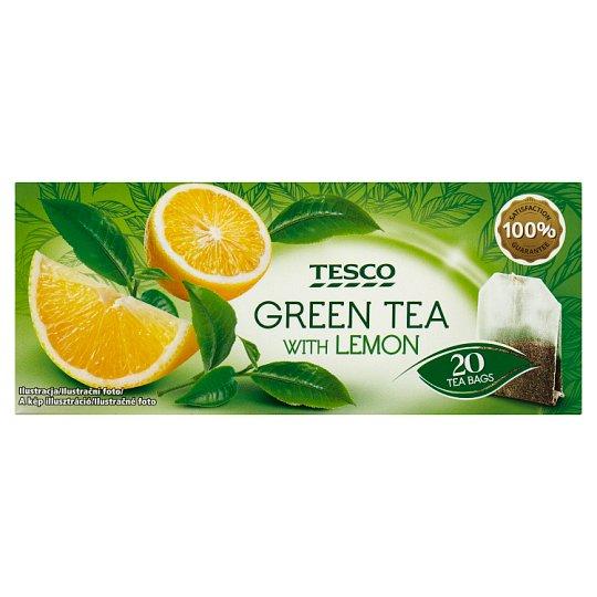 Tesco Herbata zielona o smaku cytrynowym