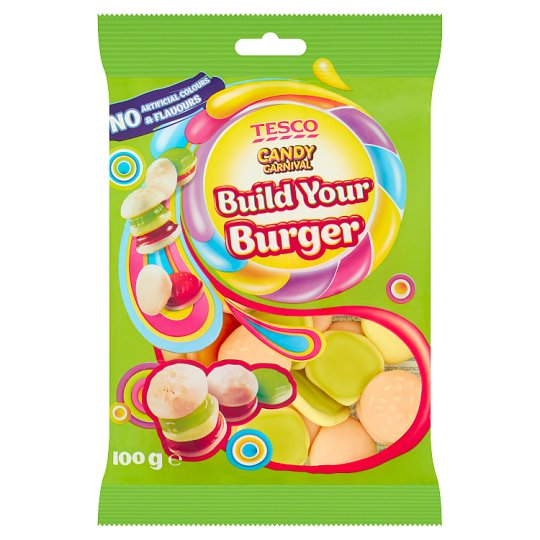 Tesco Candy Carnival Build Your Burger Żelki o smaku owocowym