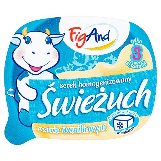 FigAnd Świeżuch Serek homogenizowany o smaku waniliowym