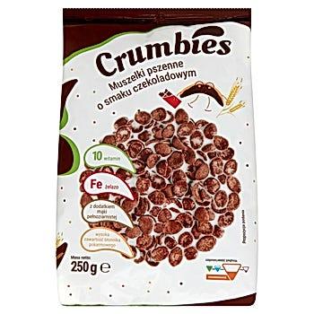 Crumbies Muszelki pszenne o smaku czekoladowym
