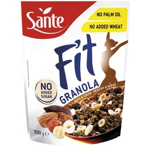 Sante Fit Granola Płatki Zbożowe Z Orzechami I Kakao