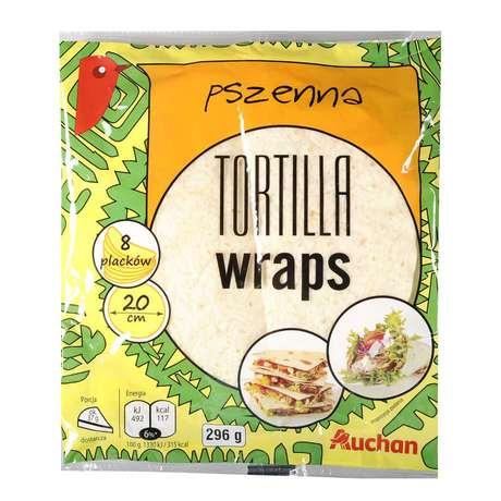 Auchan - Tortilla placki pszenne, średnica
