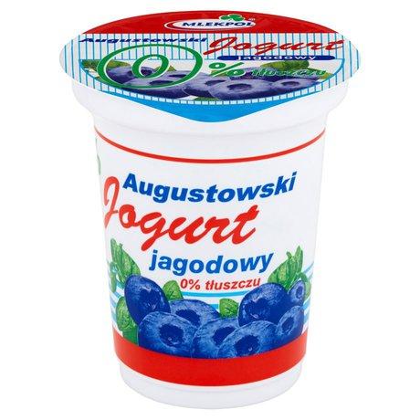 Mlekpol - Jogurt jagodowy 0% tłuszczu