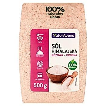 NaturAvena Sól himalajska różowa drobna