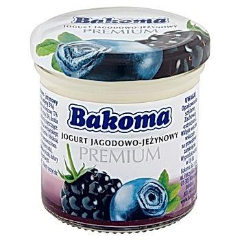 Bakoma Premium Jogurt jagodowo-jeżynowy