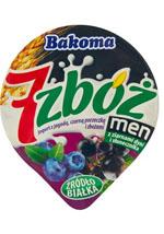 Bakoma 7 zbóż men Jogurt z jagodą czarną porzeczką i ziarnami zbóż