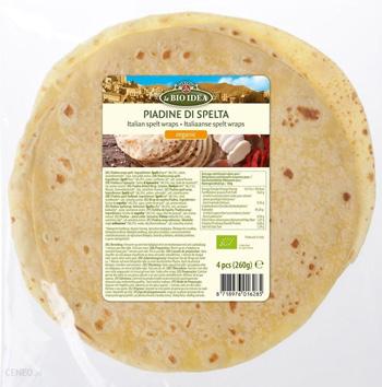Tortilla Orkiszowa Piadina BIO 260 g La Bio Idea