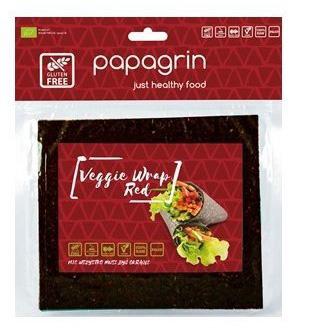 Tortilla Wraps Warzywna Czerwona Bezglutenowa BIO 100 g Papagrin