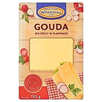 Włoszczowa Gouda ser żółty w plastrach