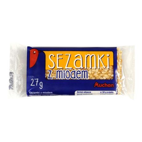 Auchan - Sezamki z miodem