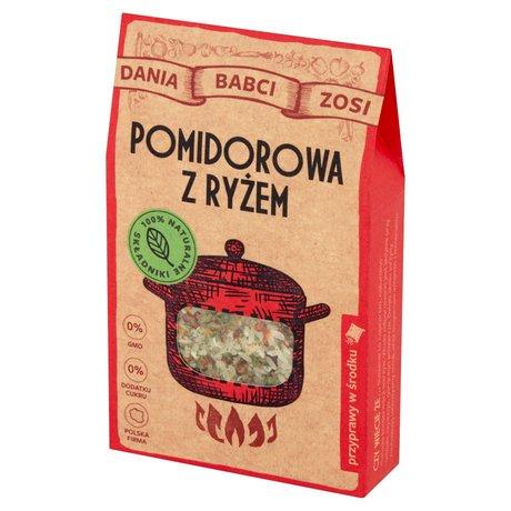 Dania Babci Zosi - Zupa pomidorowa z ryżem z suszonych warzyw
