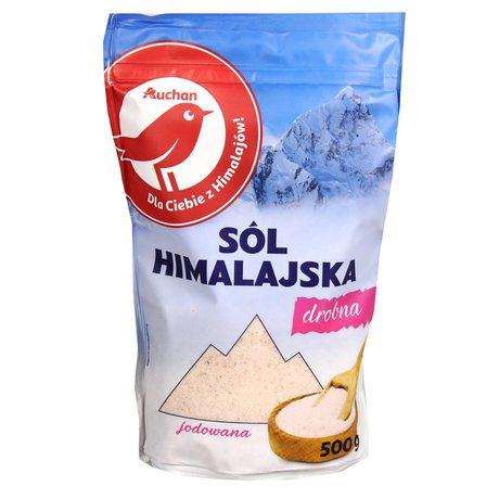 Auchan - Sól Himalajska jodowana drobna