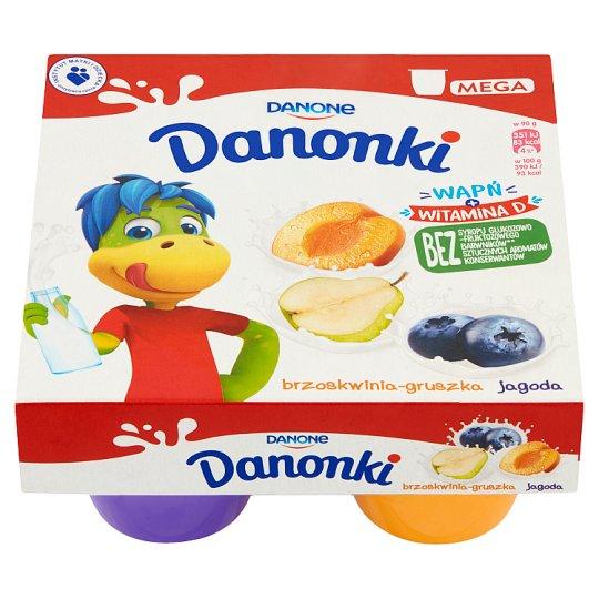 Danone Danonki Mega Serek brzoskwinia-gruszka jagoda
