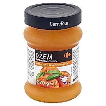 Carrefour Dżem brzoskwiniowy o obniżonej zawartości cukrów