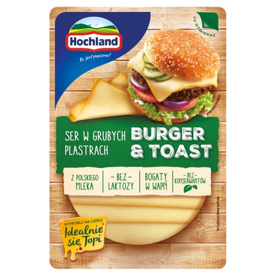 Hochland Burger & Toast Ser w grubych plastrach