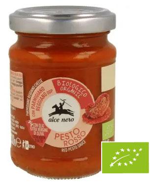 ALCE NERO Pesto czerwone z suszonych pomidorów BIO