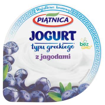 PIĄTNICA Jogurt typu greckiego z jagodami