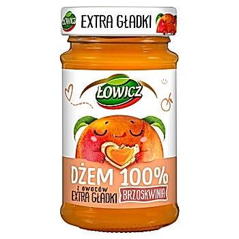Łowicz Dżem 100% z owoców extra gładki brzoskwinia