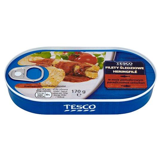 Tesco Filety śledziowe w sosie pomidorowym