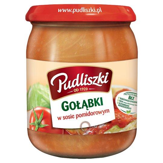 Pudliszki Gołąbki w sosie pomidorowym