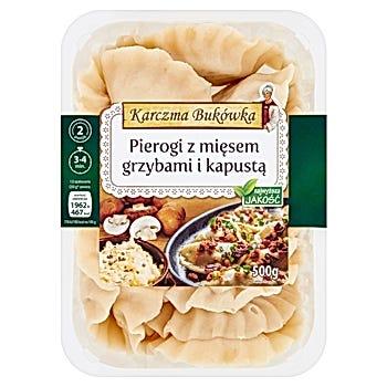 Karczma Bukówka Pierogi z mięsem kapustą i grzybami