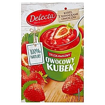 Delecta Z serca natury Owocowy kubek Kisiel o smaku truskawkowym