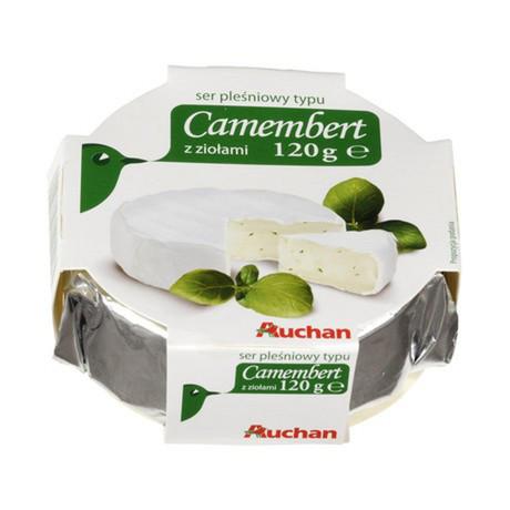 Auchan - Ser pleśniowy Camembert z ziołami