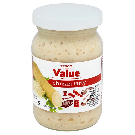 Tesco Value Chrzan tarty