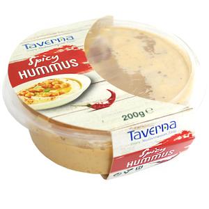 Taverna Hummus Spicy Pikantny Kremowy Dip Z Ciecierzycy Z Pastą Sezamową
