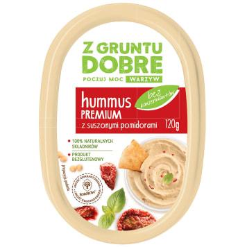 Z GRUNTU DOBRE Hummus Premium z suszonymi pomidorami