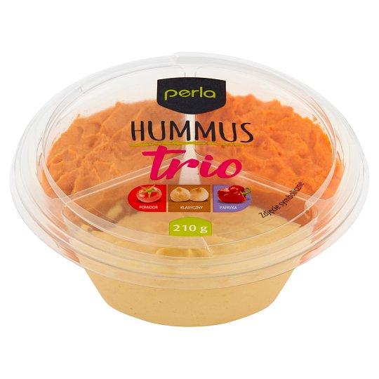 Perla Hummus trio pomidor klasyczny papryka