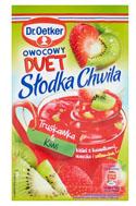 Dr. Oetker Słodka Chwila Owocowy Duet Truskawka & Kiwi Kisiel z kawałkami owoców