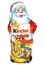 Kinder Mikołaj Figurka pokryta mleczną czekoladą