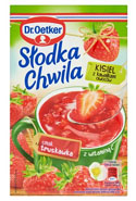 Dr. Oetker Słodka Chwila Kisiel z kawałkami owoców smak truskawka