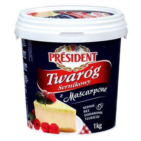 President - twaróg sernikowy z Mascarpone wiaderko