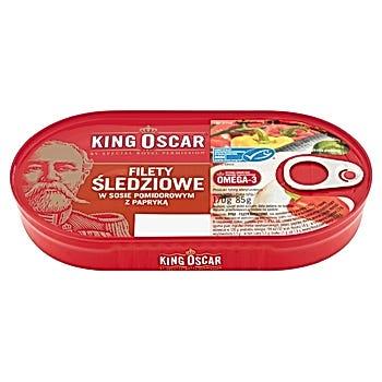 King Oscar Filety śledziowe w sosie pomidorowym z papryką