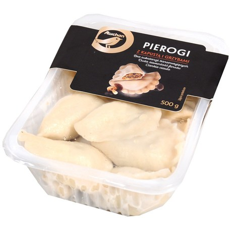 Auchan - Pierogi z kapustą i grzybami
