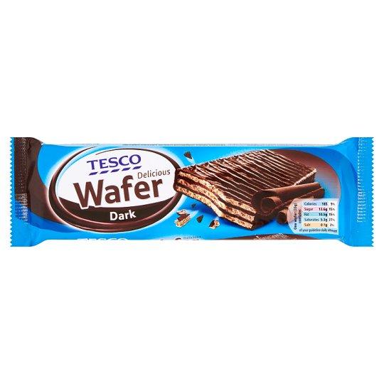 Tesco Wafelek oblany czekoladą z nadzieniem o smaku czekoladowym