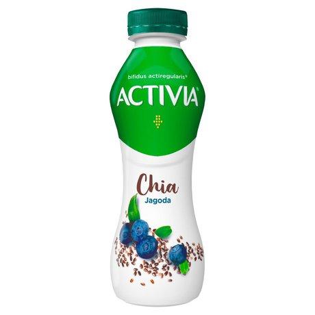 Danone - Activia Chia jogurt o smaku jagodowym z chia